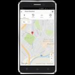 Zobrazenie GPS polohy v mape (len prenosne SOS tlačidlo)
